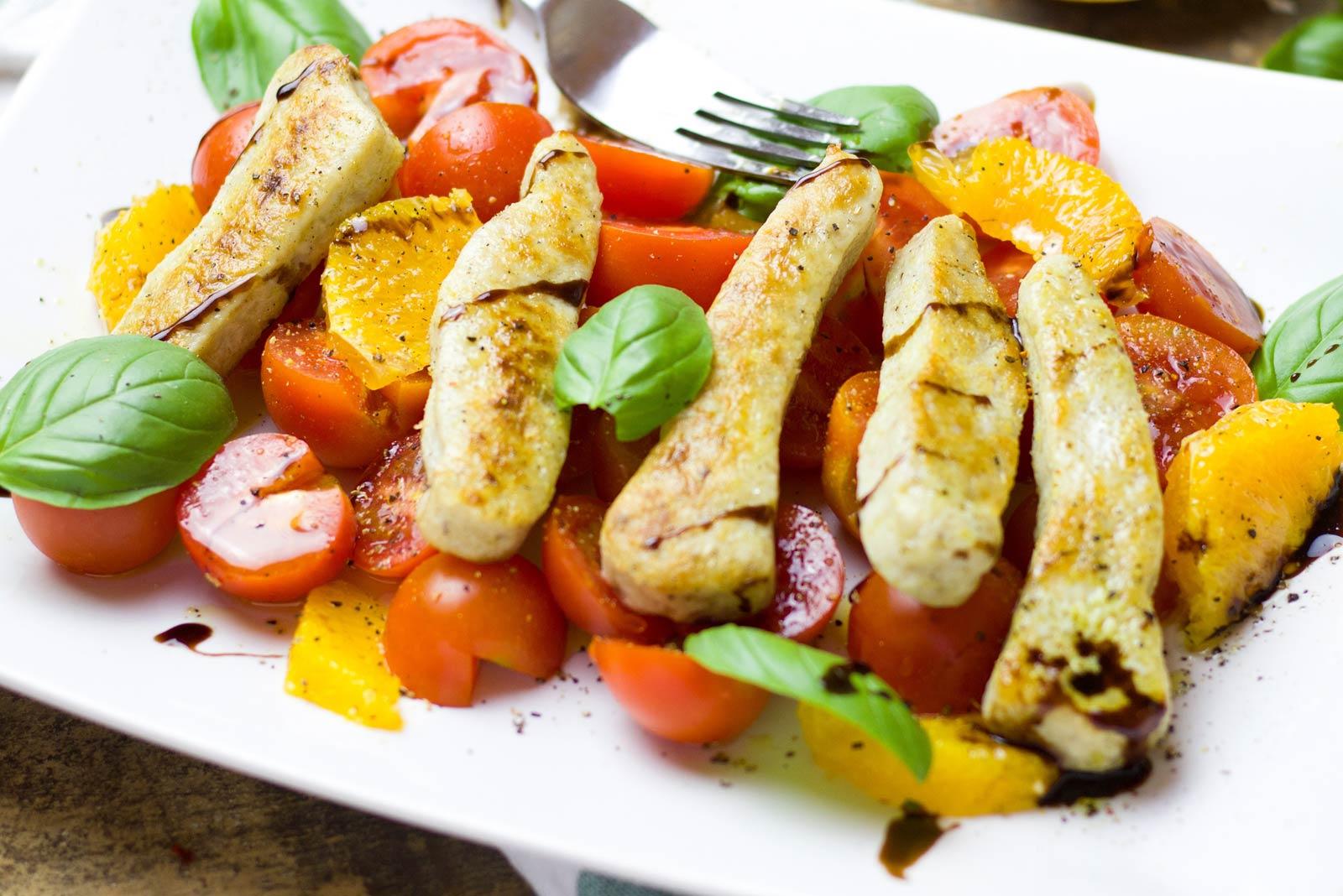 poulet salade