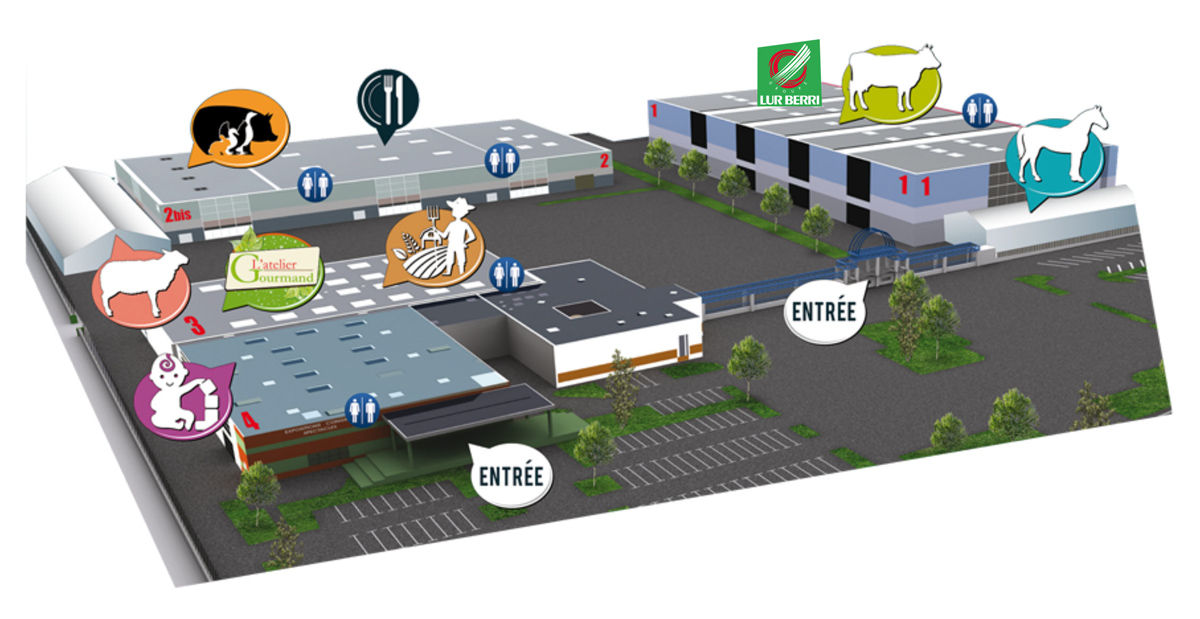 Plan Salon de l'Agriculture de Tarbes 2019